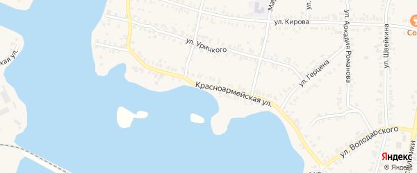 Красноармейская улица на карте Кыштыма с номерами домов