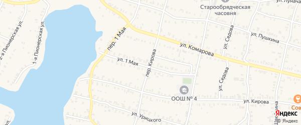 Переулок Кирова на карте Кыштыма с номерами домов