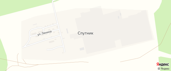 Улица Нефтяников на карте поселка Спутника с номерами домов