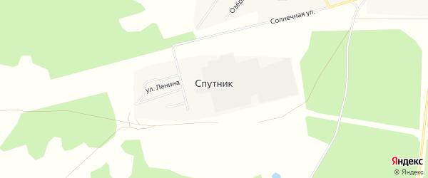 Карта поселка Спутника в Челябинской области с улицами и номерами домов