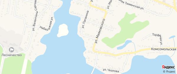 Улица Коммунаров на карте Кыштыма с номерами домов