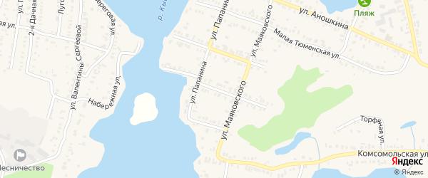 Улица Парамонова на карте Кыштыма с номерами домов