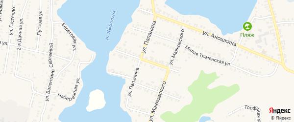 Улица Абрамова на карте Кыштыма с номерами домов