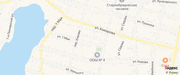 Уфалейская 2-я улица на карте Кыштыма с номерами домов