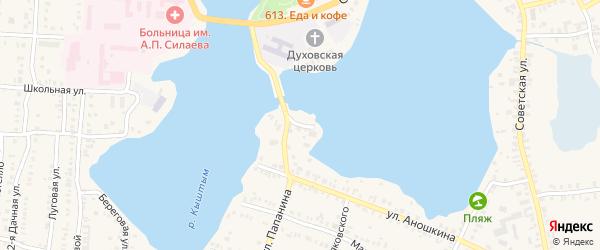 Улица Широкова на карте Кыштыма с номерами домов