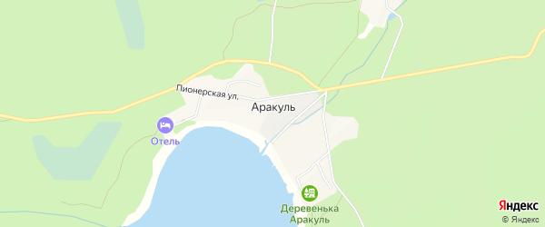 Карта поселка Аракуль в Челябинской области с улицами и номерами домов