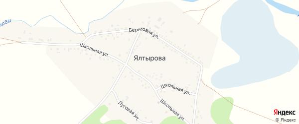 Лесная улица на карте деревни Ялтырова с номерами домов