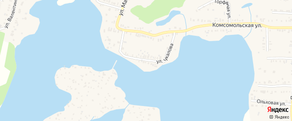 Улица Чкалова на карте Кыштыма с номерами домов