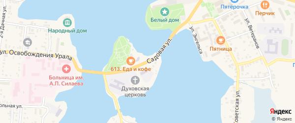 Садовая улица на карте Кыштыма с номерами домов