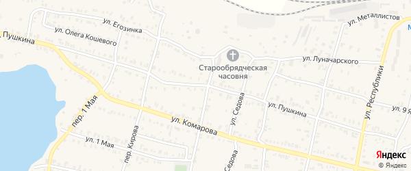 Улица Пушкина на карте Кыштыма с номерами домов