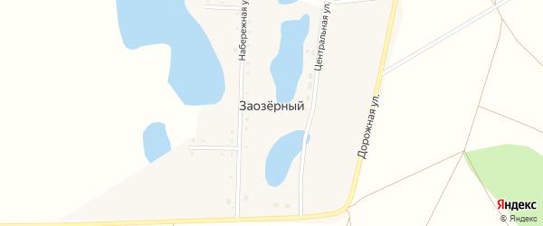 Целинный переулок на карте Заозерного поселка с номерами домов