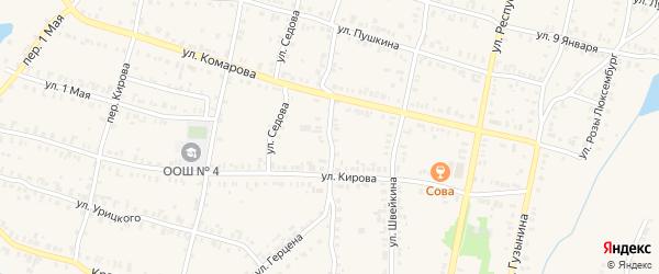 Улица Аркадия Романова на карте Кыштыма с номерами домов