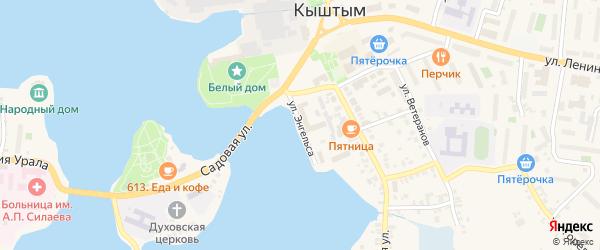 Улица Энгельса на карте Кыштыма с номерами домов