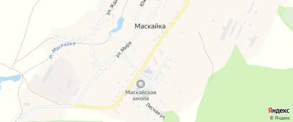 Улица Механизаторов на карте деревни Маскайки с номерами домов