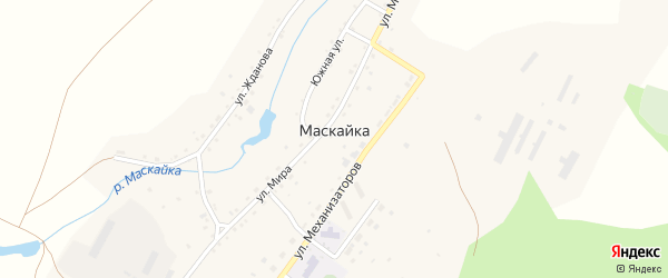 Южная улица на карте деревни Маскайки с номерами домов