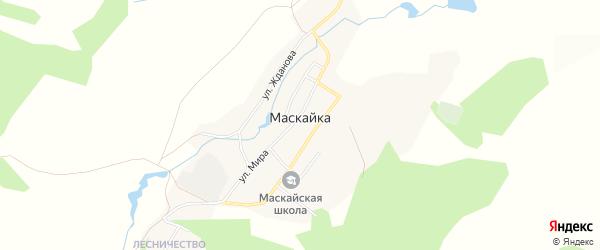 Карта деревни Маскайки в Челябинской области с улицами и номерами домов