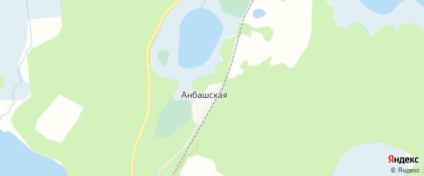 Карта поселка Анбашской города Кыштыма в Челябинской области с улицами и номерами домов