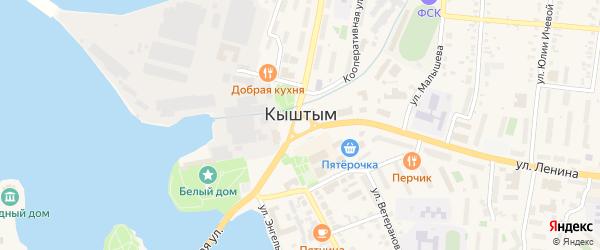 СНТ Белоозерский на карте Кыштыма с номерами домов