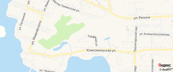 Торфяная улица на карте Кыштыма с номерами домов