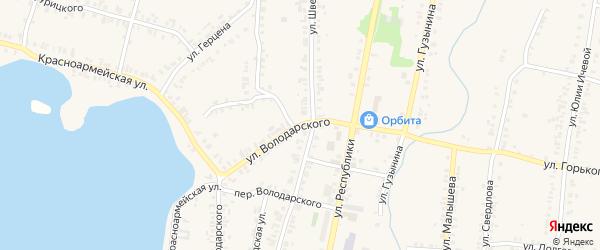 Улица Володарского на карте Кыштыма с номерами домов