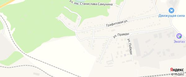 Корундовая 2-я улица на карте Кыштыма с номерами домов