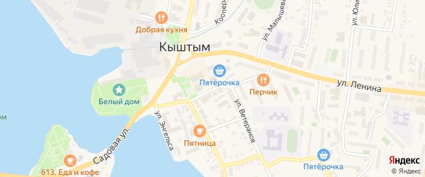 Улица Фрунзе на карте Кыштыма с номерами домов