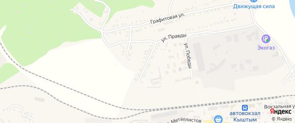 Корундовая 1-я улица на карте Кыштыма с номерами домов