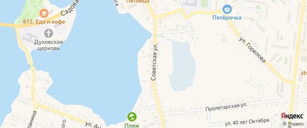 Советская улица на карте Кыштыма с номерами домов