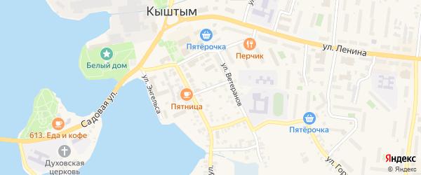 Банковский переулок на карте Кыштыма с номерами домов