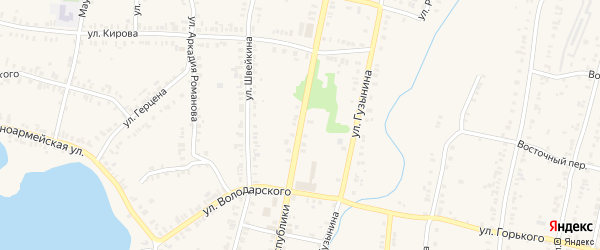 Улица Республики на карте Кыштыма с номерами домов