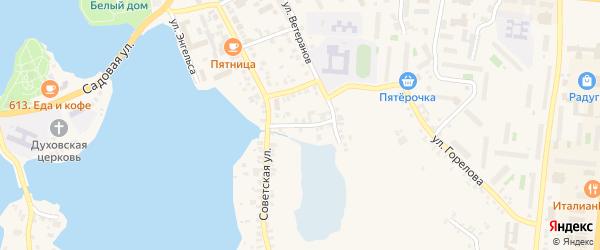 Советский переулок на карте Кыштыма с номерами домов