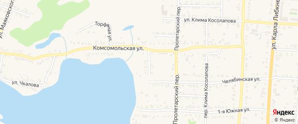 Комсомольский переулок на карте Кыштыма с номерами домов