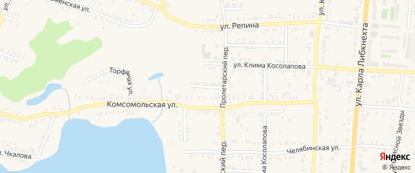 Литейная улица на карте Кыштыма с номерами домов