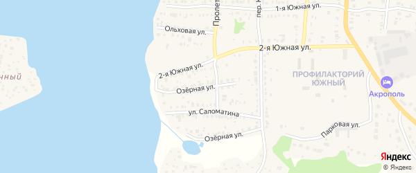Озерная улица на карте Кыштыма с номерами домов