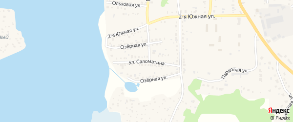 Улица Саломатина на карте Кыштыма с номерами домов