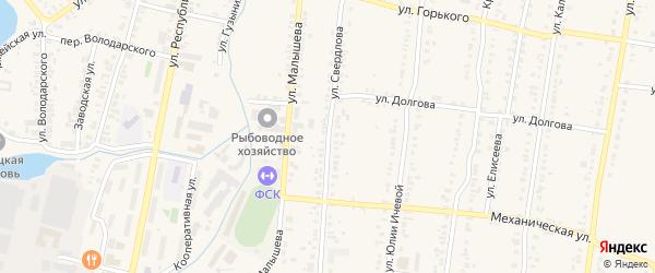 Улица Свердлова на карте Кыштыма с номерами домов