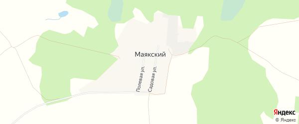 Карта Маякского поселка в Челябинской области с улицами и номерами домов