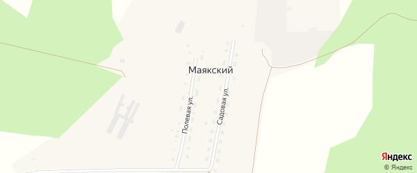 Садовая улица на карте Маякского поселка с номерами домов