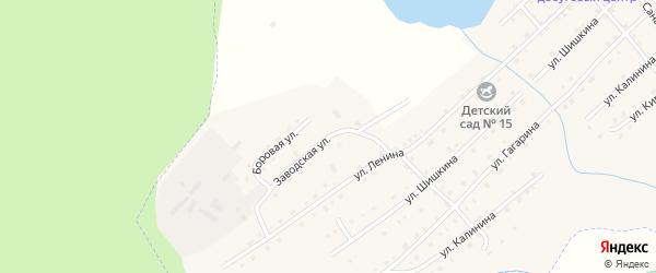 Заводская улица на карте села Верхней Санарки с номерами домов