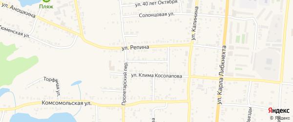 Улица Грибоедова на карте Кыштыма с номерами домов