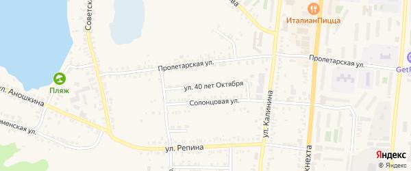 Улица 40 лет Октября на карте Кыштыма с номерами домов