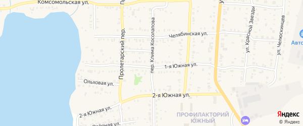 Переулок Клима Косолапова на карте Кыштыма с номерами домов