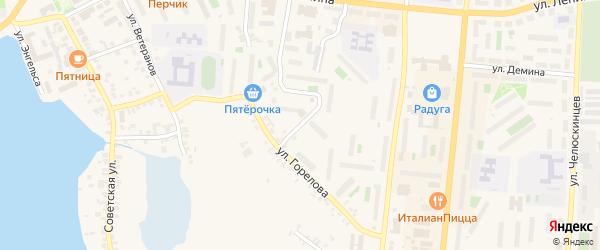 Улица Крупской на карте Кыштыма с номерами домов