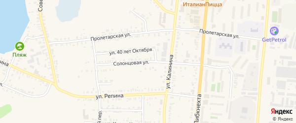 Солонцовая улица на карте Кыштыма с номерами домов