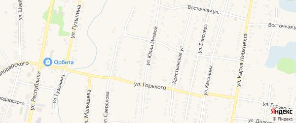 Улица Юлии Ичевой на карте Кыштыма с номерами домов