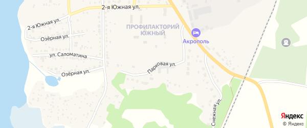 Парковая улица на карте Кыштыма с номерами домов