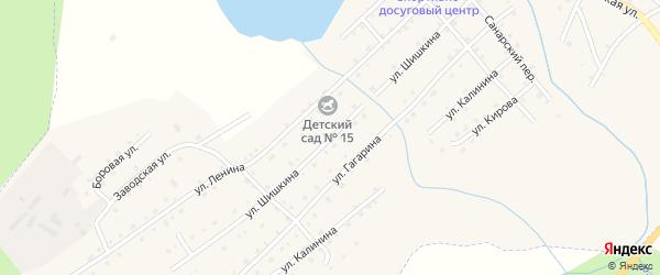 Улица Шишкина на карте села Верхней Санарки с номерами домов
