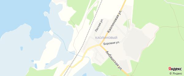 Карта железнодорожной остановки Рипуса города Кыштыма в Челябинской области с улицами и номерами домов