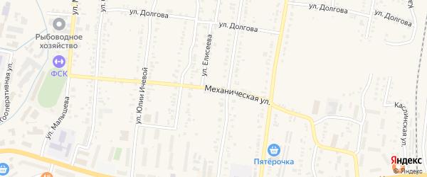 Механическая улица на карте Кыштыма с номерами домов