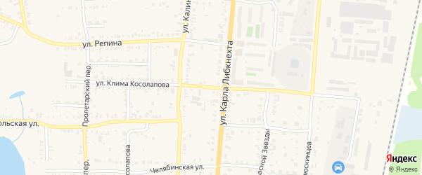 Улица Клима Косолапова на карте Кыштыма с номерами домов
